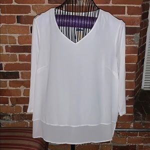 NWT 3/4 Sleeve White Blouse!